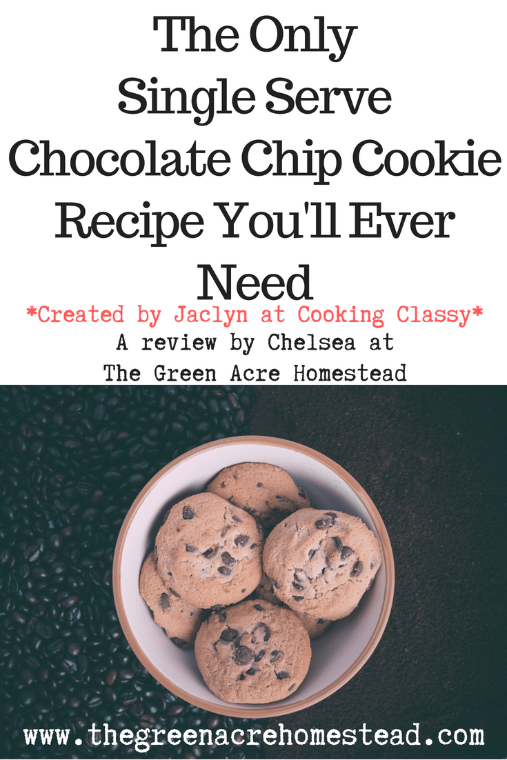 The Only Single Serve Chocolate Chip Cookie Recipe You'll Ever Need - By Cooking Classy