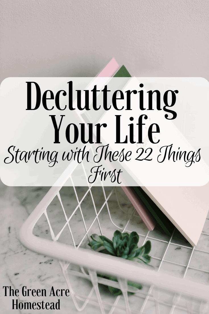 Decluttering Your Life (4)