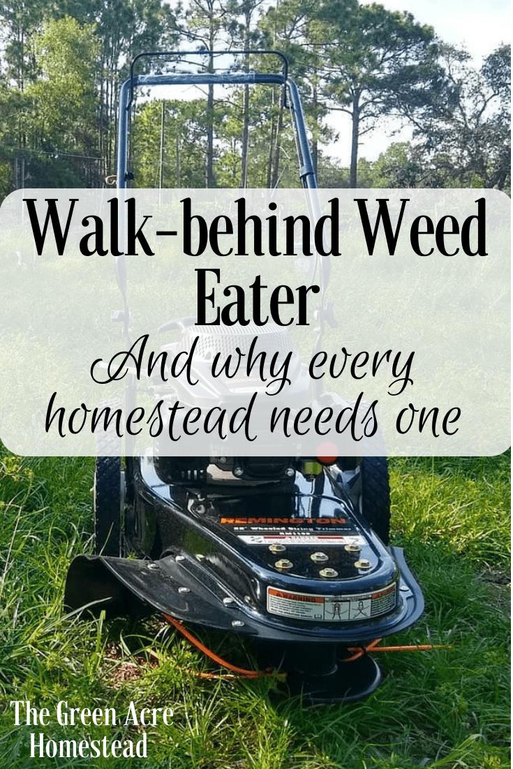 Walk behind weed eater