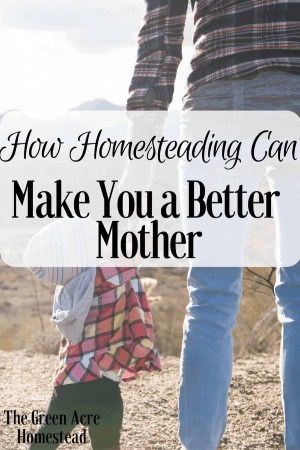 How homesteading can make you a better mother