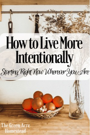 how to live more intentionally