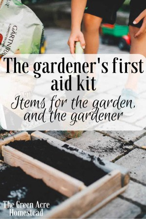 The gardener's first aid kit