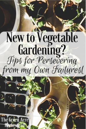 new to vegetable gardening?